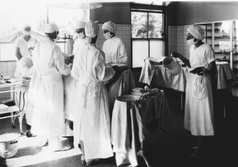 Loma Linda operating room in 1924